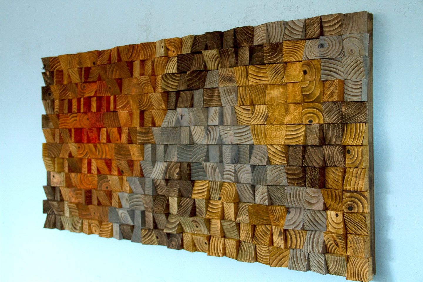 Rustic wood wall art wood wall sculpture abstract wood art for Wall artwork paintings