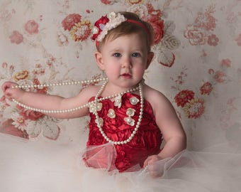 RTS  Strapless Corset Top & tutu with matching headband   Size 18mo to  3T