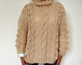 Bubbles & Cables Sweater.