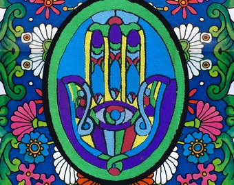 Hamsa Hand   /// Psychedelic Patch /// Spirituality  /// Custom Colors and Images Available