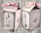 Lavender Milk Box printable Favor Box paper crafting diy digital download box pattern instant download digital collage sheet - 1238VEDEBXVI