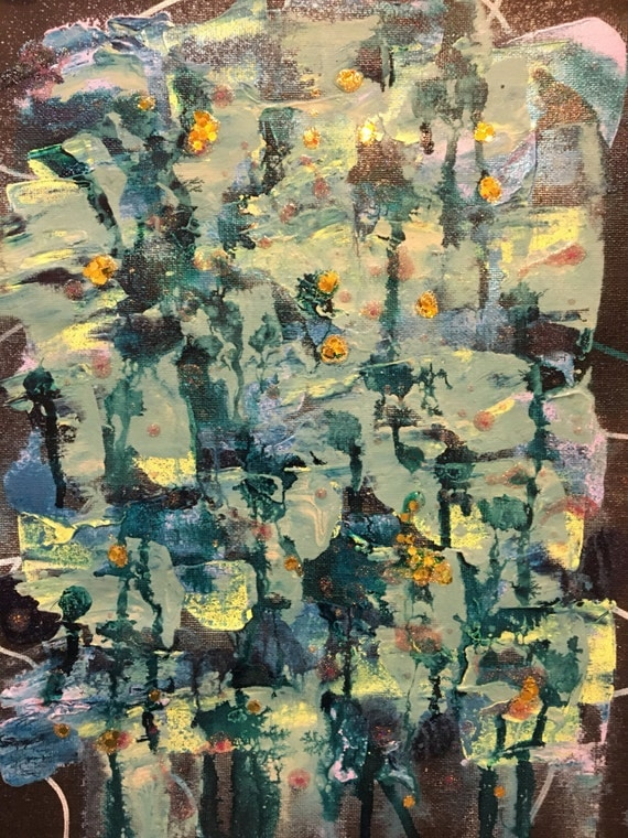 Carolyn original abstract acrylic pretty painting for Pretty acrylic paintings