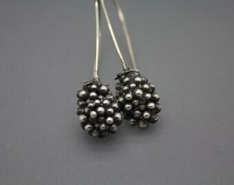 Blackberry Earrings, Blackberry Jewelry, Food Jewelry, Southern Jewelry, Southern Earrings, Berry Earrings, Ooak Earrings, Ooak Jewelry