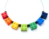 Upcycling Necklace RAINBOW - Happy Jewelry - Handmade Necklace - Upcycling Jewelry geekery crazy eyecatcher colourful Teenager Children