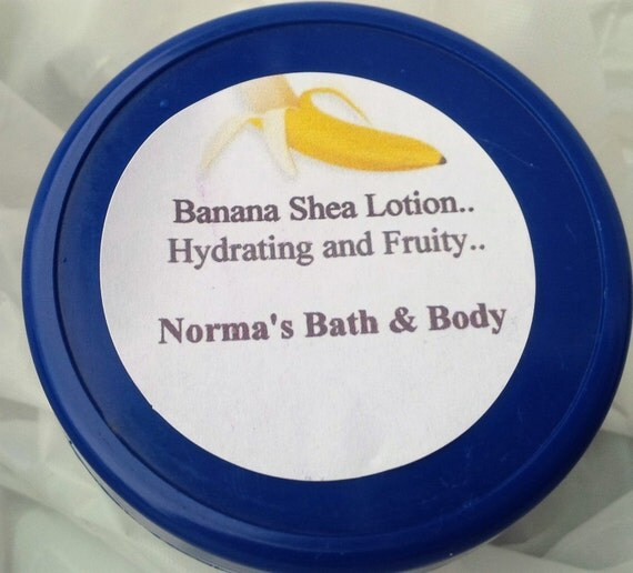 banana body lotion, lotion, banana, beauty, skin care, moisturizers, body lotion, normas bath, womens lotion