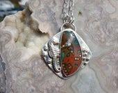 SALE - Ocean Jasper Seahorse Sterling Silver Necklace