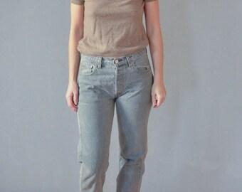 SALE Levis 501 grey mom jeans  Denim Pants Vintage 90's womens jeans