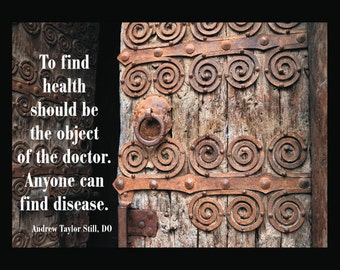 """Osteopathic Health Quote Poster - 18"""" X 24"""""""