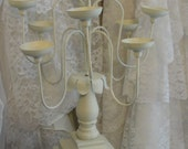 Shabby chic, candelabras, farmhouse, ornate, romantic, candles, french chic