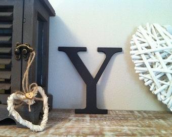 Painted Wooden Letter - Large Y, Times Roman Font, 40cm high, 16 inch, any colour, wall letter, wall decor, 18mm