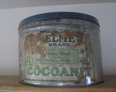 Rusty Old Large Coconut Tin - Rustic Photo Display - Beat Up Relic Collectable