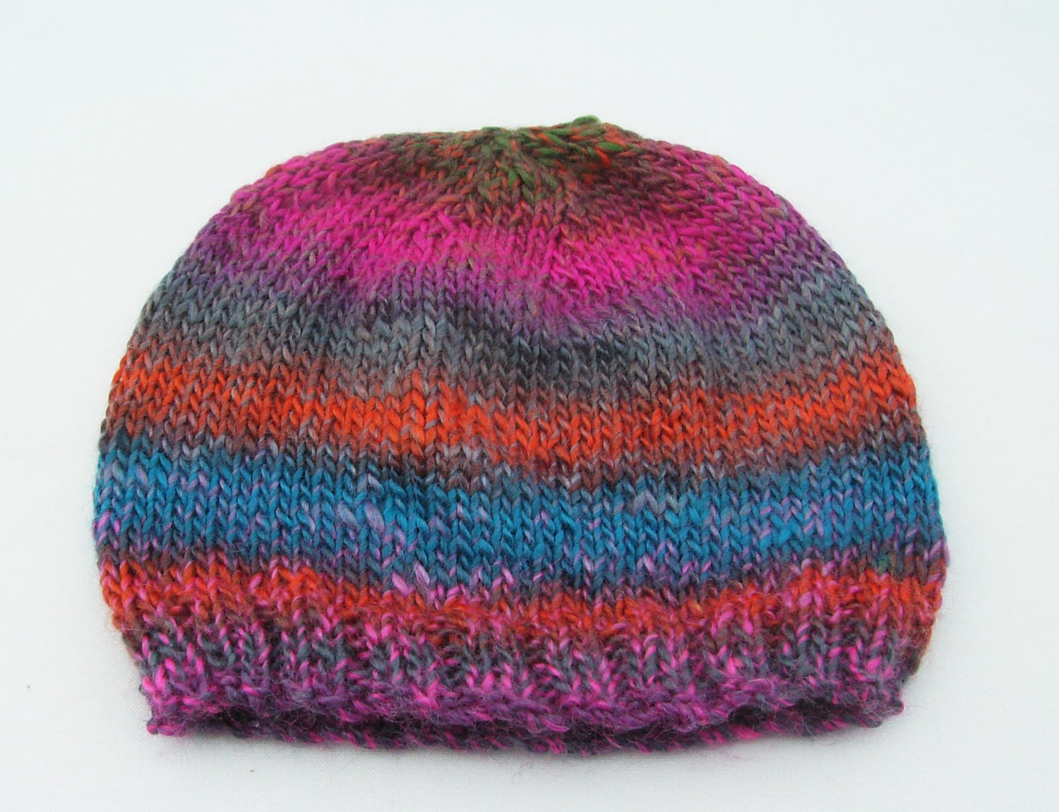 f074951c7d9ae Hand Knitted womens hat wool hat coloured hat beanie hat