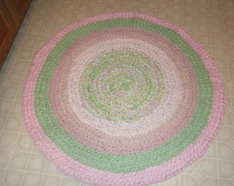 Green and Pink Area Rug\\Green and Pink Nursery Rug\\Pink and Green Nursery Rug - For Etsy