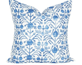 Khotan pillow cover in Cobalt - ON BOTH SIDES