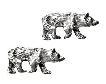 Bear Cufflinks - Gifts for Men - Anniversary Gift - Handmade - Gift Box Included