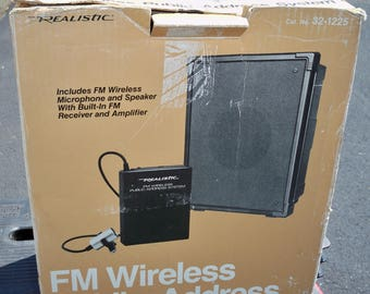 Vintage Realistic Wireless FM Public Address System