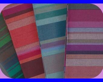 Stripe Cotton Fat Quarters FABRIC 18 x 22 Inch 4 Pcs