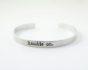 """Led Zeppelin """"Ramble on."""" Stamped Cuff"""