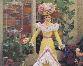 Annie's Attic Crochet Bed Doll Pattern September 1995 Turn of Century Barbie Doll Dress