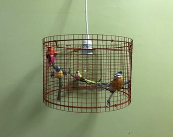 Birdcage Chandelier Pendant Light Lampshade Lamp Lampada - Made in US