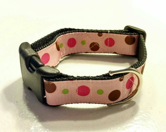 Ready To Ship Dog Collar - Pink Bubble Gum