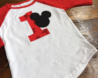 Ready to ship size 18 months Mickey Mouse first birthday tee