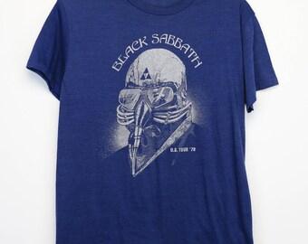Black Sabbath Shirt Vintage tshirt 1978 United States Tour Concert tee 1970s Never Say Die! Ozzy Osbourne Tony Iommi Heavy Metal Band Rock