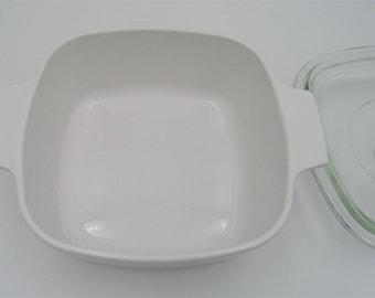 Corning Martha Stewart Everyday A-1.5-B White Pyroceram Casserole & Glass Lid