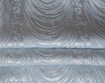 Blue Brocade Curtains, 1940s Hollywood