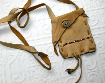 Deerskin Medicine Bag-Native American Leather Pouch