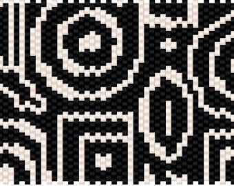Get Down Peyote Cuff Pattern INBW tutorials