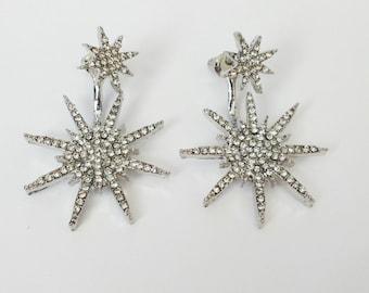 Hollywood Starburst Earrings Silver