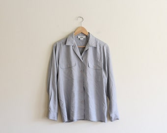 On SALE  Vintage Silk I. Magnin Blouse / M L