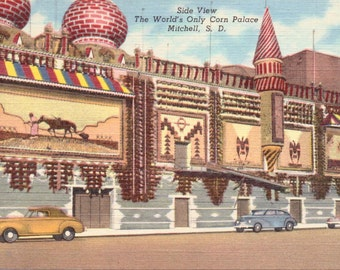 Mitchell, South Dakota, Corn Palace - Linen Postcard - Postcard - Unused (E)