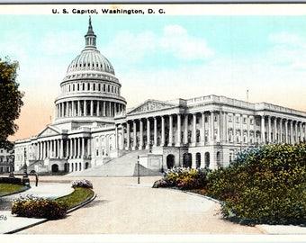 Washington D.C., U.S. Capitol - Vintage Postcard - Postcard - Unused (O)