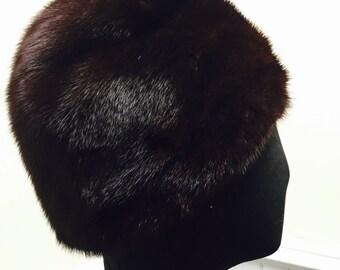 Vintage 1960s Adolfo II Genuine Fur Cloche Hat
