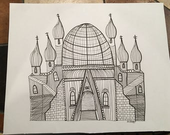 Temple (original drawing)