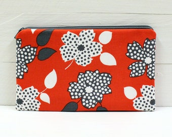 Large Zipper Pouch, Cosmetic Case, Travel Bag, Money Bag - READY to SHIP