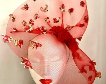 Red Flower Headpiece