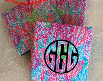 Custom Personalized Neoprene Can Cozie, Personalized Cozie for Soda/Beer Cans, Great for Girls Weekend, Sororities, Beach Parties!