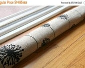 SALE Draft Stopper- Denton Black and Beige Dandelion- Window or Door Snake- Burlap Textured Home Decor- Breeze Blocker- Draft Dodger