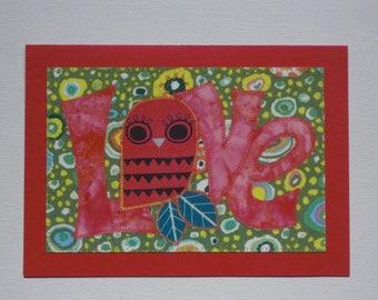 Owl Love Birthday Card Mom Friend Child Paper Card Frame Gift Thank You Hi Housewarming Room Decor Paper Greeting Card 5x7 Him Her Send Love