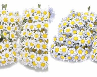 Daisies Artificial Flowers Party Favors pcs 72