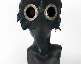 Steampunk Feathered Plague Doctor Mask BY SAMANTHA B