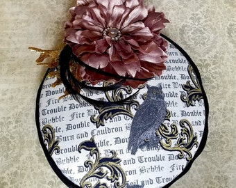 Toil and Trouble Owl Pillbox Hat