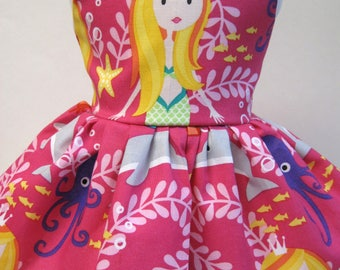Mermaid Sisters, Sleeveless Dress for your 18 Inch Doll B
