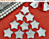 50% SALE 10 Clear Stars Independence Day 4th Of July Patriotic Resin Cabochon Flatbacks Flat Back Hair Bow Center Crafts DIY 24mm