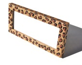 Leopard Print Glitter cosmetology license frame. Zebra Print. Business license frame.  Glitter Frame.  License Frame.