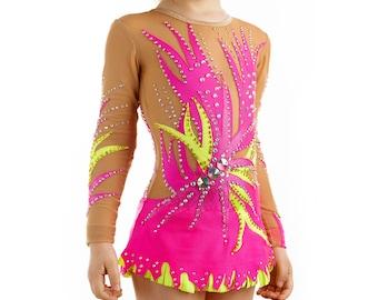 Rhythmic Gymnastics Leotard #197 for Competition | Order as Ice Figure Skating Dress, Acrobatic Gymnastics Costume or Baton Twirling Leotard