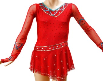Rhythmic Gymnastics Leotard #131 for Competition | Order as Ice Figure Skating Dress, Acrobatic Gymnastics Costume or Baton Twirling Leotard